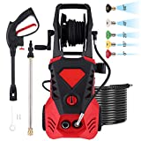 Power Washer 3500 PSI 2.6 GPM Electric Pressure Washer with Spray Gun, 5 Adjustable Nozzles, 32 ft Cable, 20 ft Hose