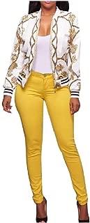 Mogogo Women's Bodycon Mini Floral Print Plus Size Outwear Jacket