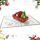 Sunshine smile Tarjeta Regalo de 3D Pop-up,Tarjetas de Navidad,Tarjetas de felicitación navideñas,Navidad Felicitación Tarjeta,Creativas Christmas Greeting Card,Tarjetas de Felicitación para Navidad