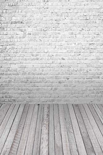 Fondos de Pared Gris para fotografía Parte de ladrillo Retrato de muñeca Fondos de fotografía de Interiores Photocall Photo Studio A6 10x7ft / 3x2.2m