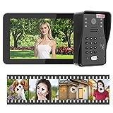 Portero automático, intercomunicador de Video WiFi con contraseña, grabación de Video para hoteles de Casas(European regulations)