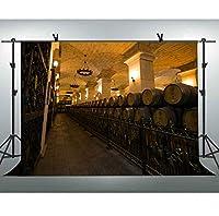 FLASIY 10x7フィート ワインセラー写真背景 オークバレル 大人用ポートレート写真ブース撮影小道具LYAY852