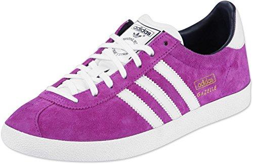 adidas Originals Gazelle OG W - Zapatillas de Cuero Mujer Lila/weiß Talla:6.5 UK - 40.0 EU