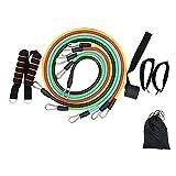 Fitness banda de resistencia de la tensión de la cuerda 11 conjuntos de multi-función e la palabra de la tensión de la correa de la tensión muscular de entrenamiento de los hombres y las mujeres