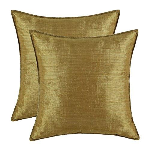 CaliTime Kissenbezüge, Kissenhülle 2 Stück Kissen Werfen Kissen Abdeckungen Fälle Schutz Muscheln zum Couch Sofa Schlafzimmer Zuhause Weihnachten Dekor (45cm X 45cm)