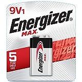 Energizer Max 9V Batteries, Premium Alkaline 9 Volt Batteries (1 Battery Count)