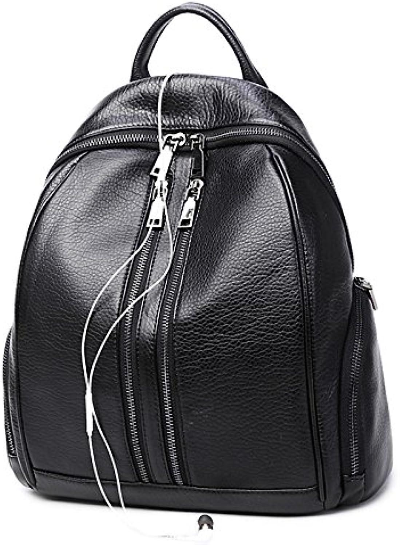 Women Bags All Season PU Backpack Zipper for Casual Office & Career Black