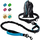 SparklyPets Hands-Free Dog Leash for Medium and Large Dogs – Professional Harness with Reflective Stitches for Training, Walking, Jogging and Running Your Pet (Blue)