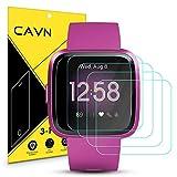 CAVN Protector de Pantalla Compatible con Fitbit Versa/Versa Lite, Cristal Vidrio Templado Compatible con Fitbit Versa Lite Smart Watch Cristal Templado [4 Paquetes]
