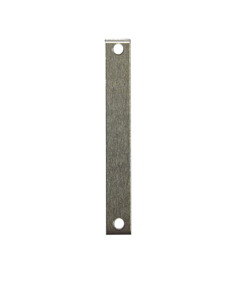 RMP Stamping Blanks, 1/4 Inch x 1-1/2 Inch Rectangle with Two Holes, Aluminum 0.063 Inch (14 Ga.) - 50 Pack