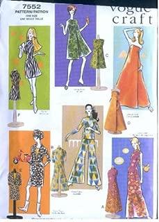 Vogue 7552 - Vintage Doll Clothes - Circa 1960s - 11.5-Inch Fashion Dolls Patterns (Vogue Craft)