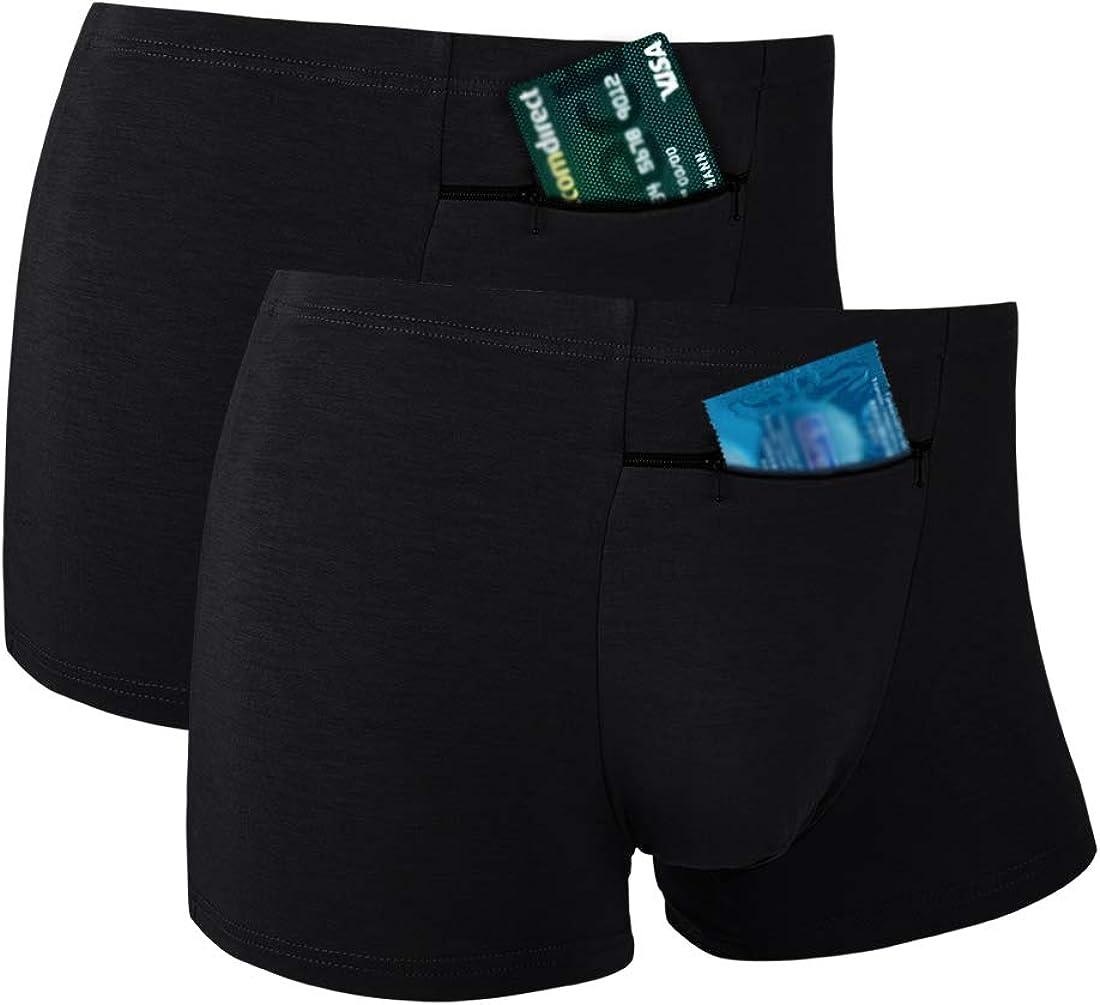 Max 59% OFF Men's Hide Your quality assurance Stash Boxer Briefs Und with Pocket Hidden Secret