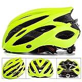 Casque de vélo SFBBAO Casque Velo Adulte Casques De Vélo avec Light Mountain Bike Road MTB Integrally-Molded XL Vert