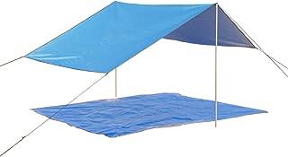 HYPER VENTURE Sun Shelter Camping Tarp Waterproof Canopy with Picnic Mat for Camping Hiking Beach Rain Sunshade