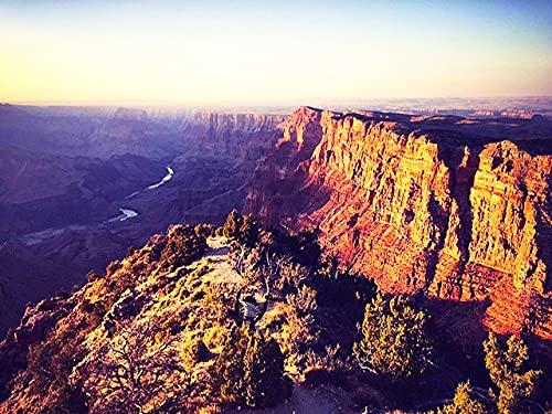 5D bricolage paysage Canyon strass image brodé montagne maison broderie diamant peinture A1 plein carré 45x60 cm