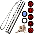 Cat Toys,LED Pointer for Cat Dog Chaser, Interactive Exercise Multi Pattern Pet Command Light, Idea Gift Training Cat Tool