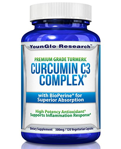 Curcumin C3 Complex with BioPerine - Powerful Health Benefits - Non-GMO Vegetarian Tumeric Capsules (1 Pack)