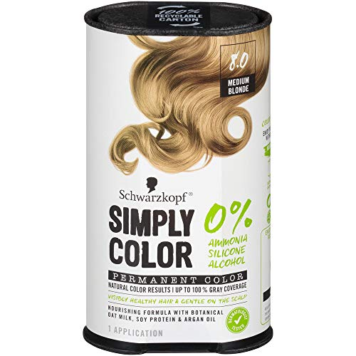 Schwarzkopf Simply Color Permanent Hair Color, 8.0 Medium Blonde