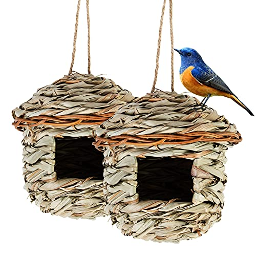 2 Pcs Bird House Nesting for Cage or Outdoor, Hanging Bird Nesting Boxes,...