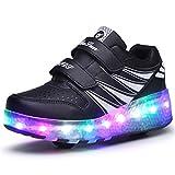 Ufatansy Uforme Kids Wheelies Lightweight Fashion Sneakers LED Light Up Shoes Single Wheel