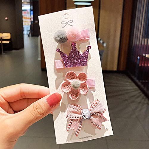 Clip de pelo niñas dibujos animados clips coloridos accesorios 8pcs/set
