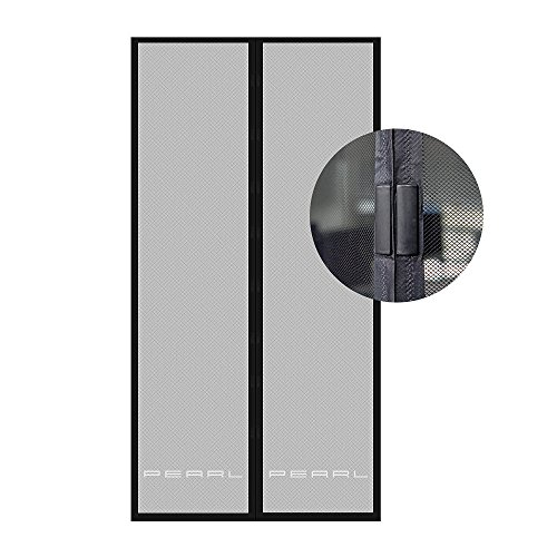 PEARL Fliegengitter Tür: Selbstschließendes Fliegennetz für Türen mit 82-86 cm Innenbreite (Fliegengitter Balkontür Magnet)