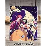 AnimeOnline 木版画 灼眼のシャナ シャナ 木版絵 木製 アニメ 漫画 写真立て フィギュア アニメグッズ 金属ステント 机 卓上 置き物 飾り物 カスタマイズ可能 (大)(約25cm×20cm×1cm)
