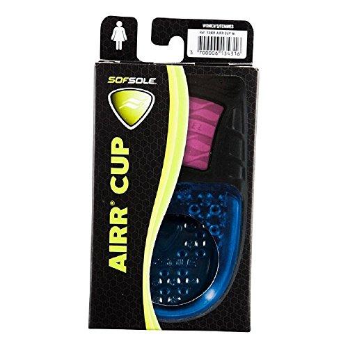 SofSole Airr Cup leichte Fersenpolster mit Luftpolsterdämpfung und Gel-Polster rutschfest für gehobenen Komfort und optimale Stßdämpfung (Damen 36-41)