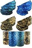 [4 Pack] UV Cooling Camo Neck Gaiter   UPF 50+ Sun/Wind/Dust Protection   Multipurpose Neck Gaiter for Men and Women   Summer Buff Tube Bandana Gaiter Mask Seamless Face Cover…