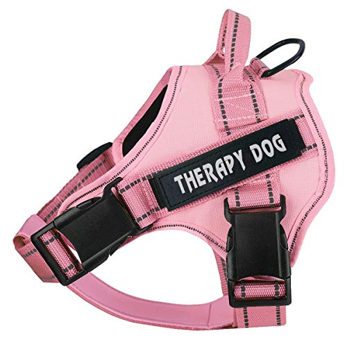No Pull Service Dog Harness,Therapy Dog Vest Harness with Reflective Straps,Lightweight Breathable and Adjustable Pet Halters,Easy On and Off Pet Vest Harness for Small Medium Large Dogs