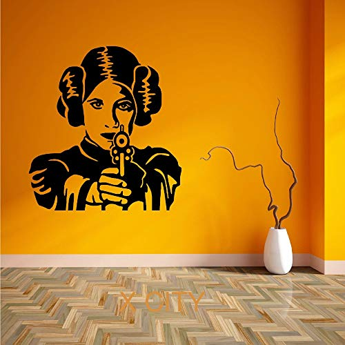 jiushivr volle wandaufkleber für Schlafzimmer bullPrincess Transfer templatePVC Vinyl Removable Living Room. Schlafzimmer Wandaufkleber57x53cm