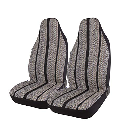 West Coast Auto Baja Blanket Bucket Seat Cover for Car, Truck, Van, SUV - Airbag Compatible (2PCS) (Black)