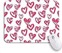 ROSECNY 可愛いマウスパッド ノートパソコン、マウスマット用の14ノンスリップラバーバッキングマウスパッドのピンクバレンタインのバレンタインデーハートパターン