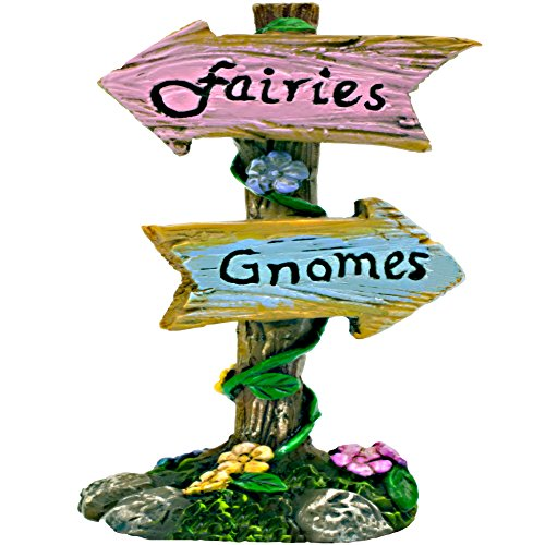 The Twig & Flower Miniature Garden Fairy & Gnome Sign