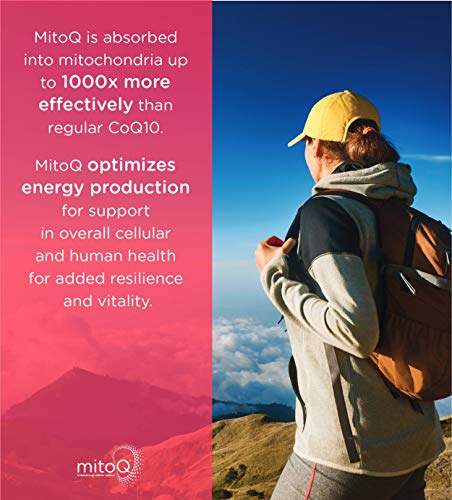MitoQ Antioxidant Supplement 60 Capsules - Advanced CoQ10 Ubiquinol for Healthy Organs and Cellular Health Support