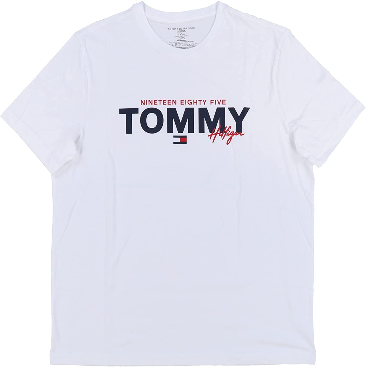 Tommy Hilfiger Mens Graphic Logo Bombing new work Shirt Sleep Opening large release sale