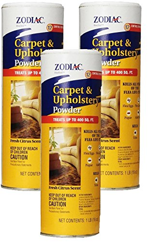 (3 Pack) Zodiac Carpet and Upholstery Powder, 16-ounce each