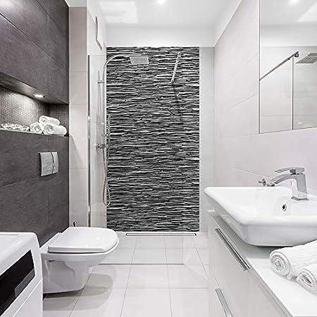 Panneau De Douche Decoratif Industriel 120x240cm Revetement Mural Salle De Bain Id Panneaux Parement Ardoise Amazon Fr Bricolage