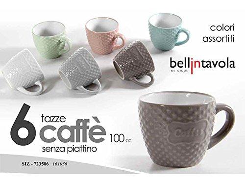 GICOS IMPORT EXPORT S.r.l. L.SIZ TAZZINE Caffe' S/P 6pz 161036 723