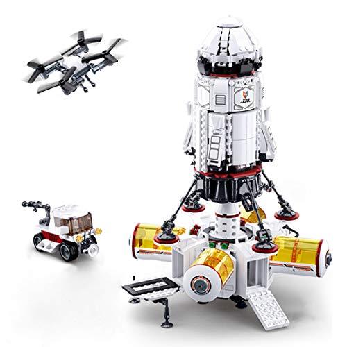NFtop Technik Space Rakete Modell, Raumschiff Kompatibel mit Lego Space - 733 Teile