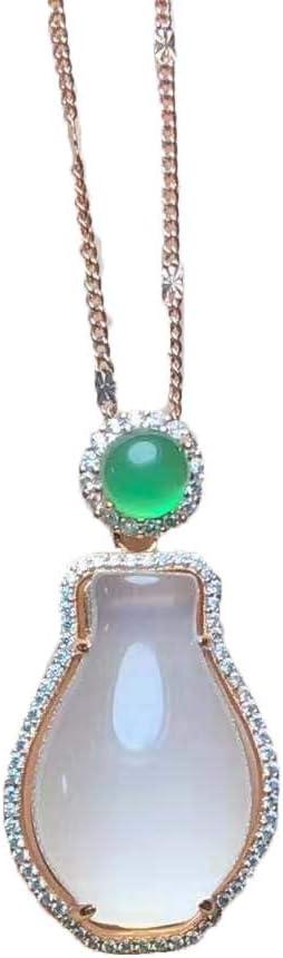 Clavicle Chain Cheap bargain 925 OFFicial Silver Agate Ne vase Chalcedony Pendant White