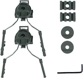DishyKooker Headset Holder Fast Helmet Rail Adapter Set Helmet Accessories Type Helmet Rail Suspension Bracket