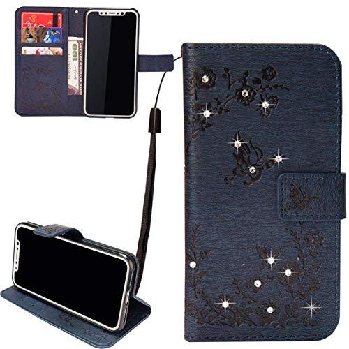 Slim Retro Bookstyle für Samsung A50 / Samsung A50S / Samsung A30S,Bling Glitter Glitzer Diamond Musterg Leder Stand Funktion Flip Wallet Hülle