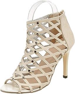 best website 5b035 0ea46 uirend Chaussures Femme Sandales - Femmes Escarpins Sexy Talon Haut  Aiguille Casual Printemps Été Fermeture Eclair