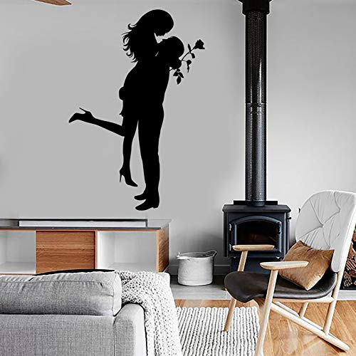 Tianpengyuanshuai Vinyl home decoratie muur stickers familie hart paar liefde valentijn romantische knuffel kus romantische decal slaapkamer