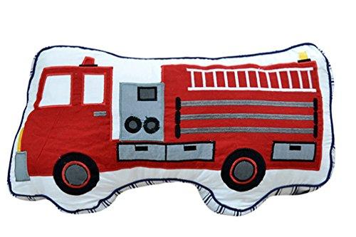 CN'Dragon Creative Car Pillow Cute Embroidery Cushion Stuffed Toy Birthday Gift Throw Pillows Plush Toys (Fire engine)