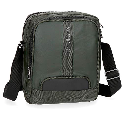 Bandolera Pepe Jeans Bromley Verde grande porta tablet
