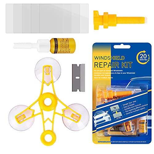 Shaboo Prints Windshield Repair Kits, Windshield Glass Repair Tool for Chips & Cracks, Star-Shaped,...