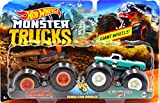 Hot Wheels Monster Jam Demolition Doubles Trucks with Giant Wheels 1:64 Die Cast Vehicles Loco Punk (Train) Vs Pure Muscle