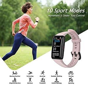 """HONOR Band 6 Pulsera Inteligente de Actividad, Monitor de Actividad, Pantalla Pulsómetro Fitness Tracker, SpO2, 1.47"""" Pantalla AMOLED a Color Smartwatch para Mujer Hombre, Rosa"""